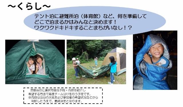 ポイント2(防災チャレンジキャンプ)